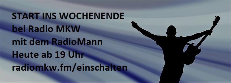 Start ins Wochenende, Heute ab 19:00 Uhr mit Jürgen Mann