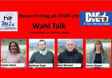 Wahl Talk bei Radio MKW Live aus dem Studio Gründau